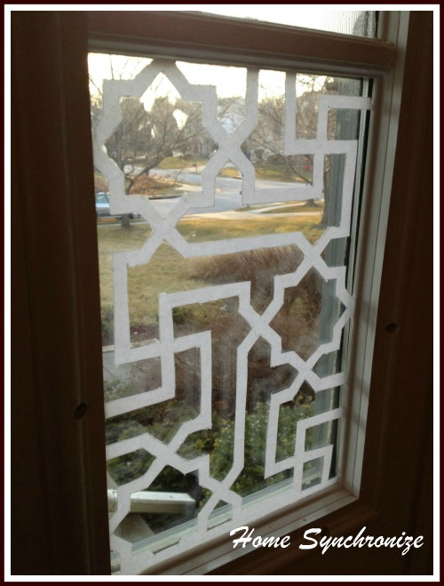 Super My Front Door Side Windows Etched With Islamic Pattern PL49