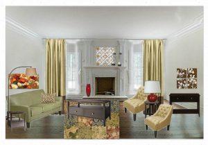 Target Living Room Concept Board