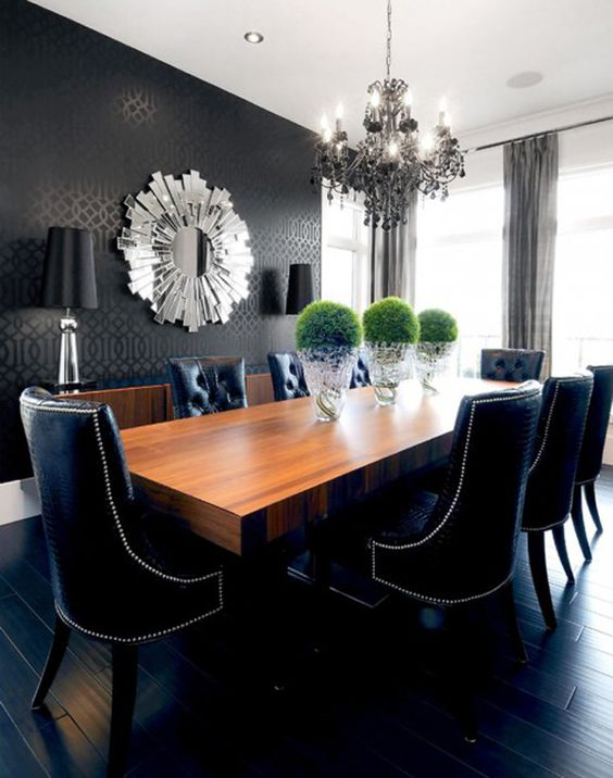 black-dining-room