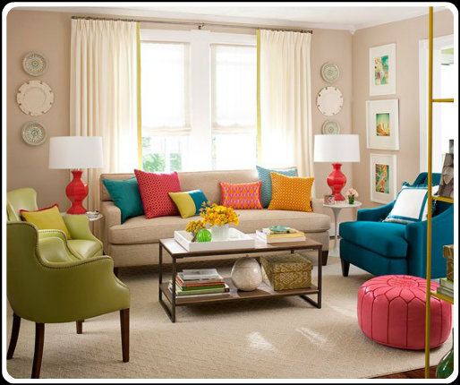 Color psychology decorating with green - Red and green interior design ...