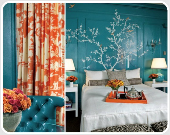 Color psychology decorating with blue - Red and green interior design ...