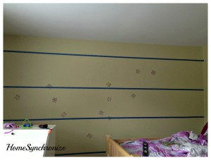 One Fabulous Little Girl's Bedroom Accent Wall