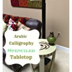 Arabic Calligraphy Stenciled Tabletop
