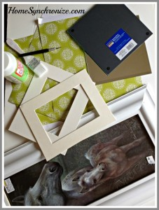 Turn Framed Art Into A Decorative Mirror