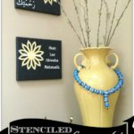 Stenciled Canvas Art-Islamic Theme