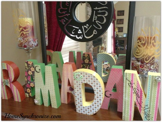 Decorating for ramadan wooden letters Islamic decorations for home