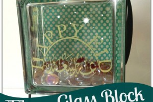 DIY Glass Block Eid Decoration