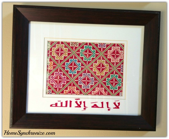 Framed Fabric art 3