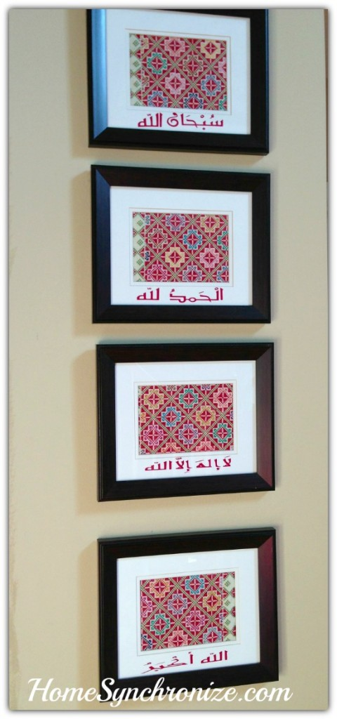 framed fabric art 5
