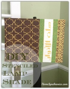 How To Stencil A Lampshade That Will Not Be Ignored