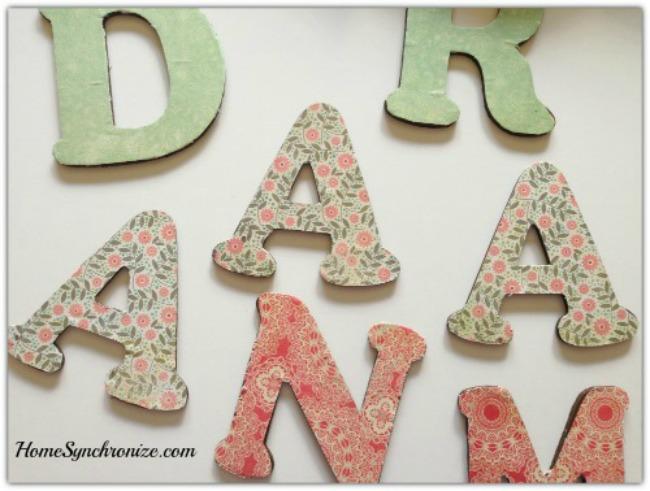 Ramadan wooden letters 2