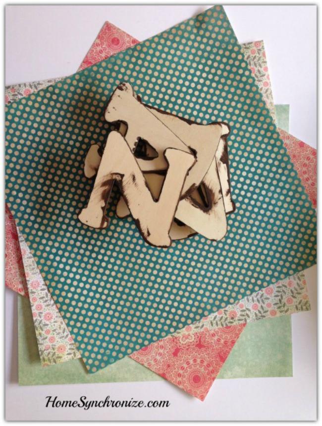 Ramadan wooden letters