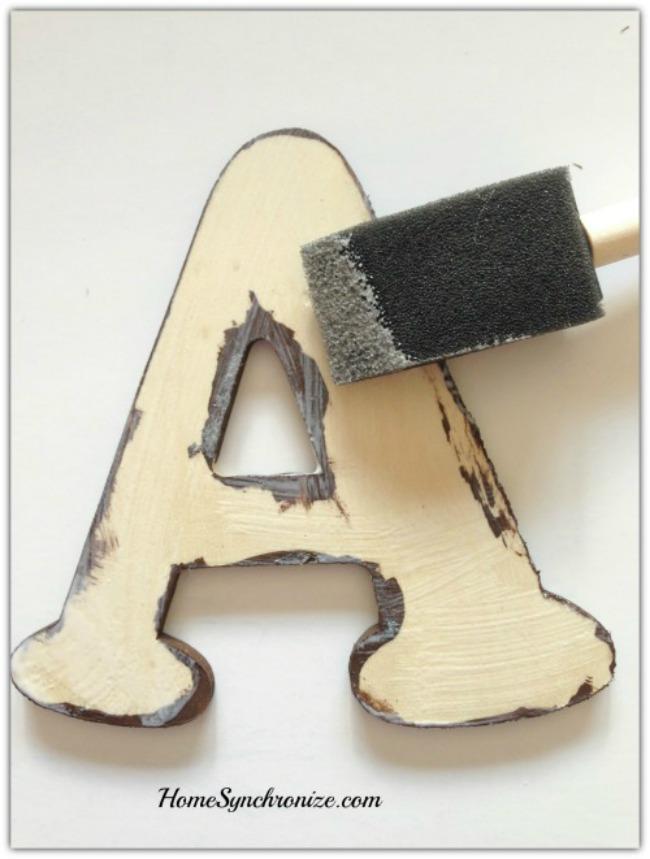 wooden letter art