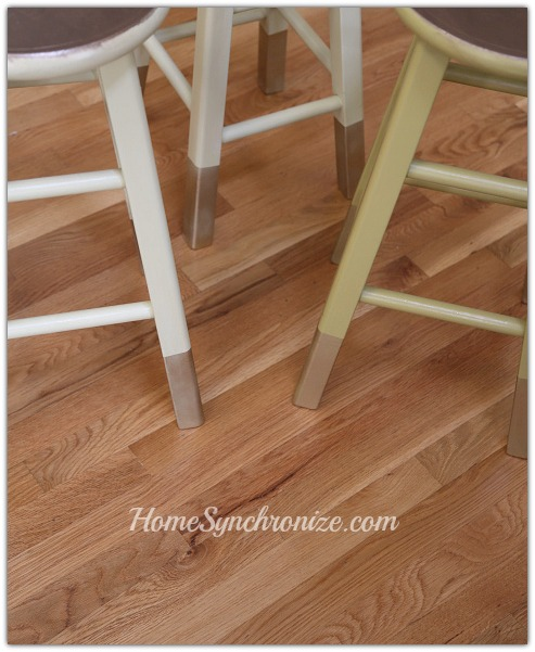 DIY gold dipped bar stools 3