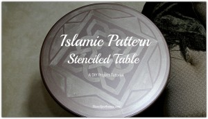Islamic Pattern Stenciled Table