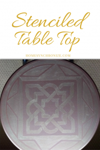 Islamic Pattern Stenciled End Table {A DIY Video Tutorial}