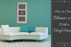 How to Create Art With a Vinyl Stencil {A Video Tutorial}